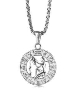 Aquarius Silver Necklace