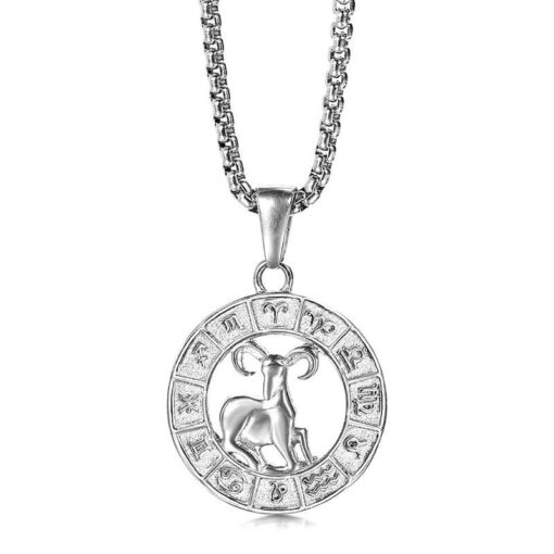 Aries Silver Necklace