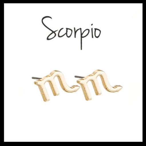 Astro Scorpio Earrings gold color