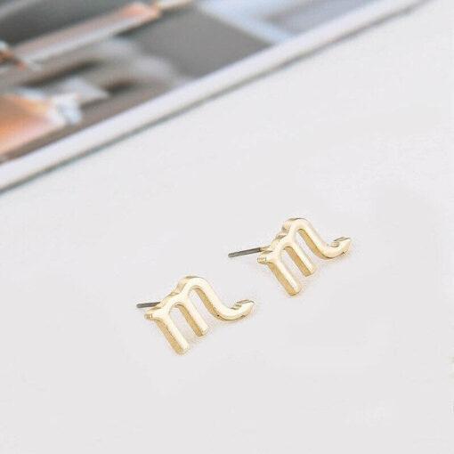 Astro Scorpio Earrings golden color