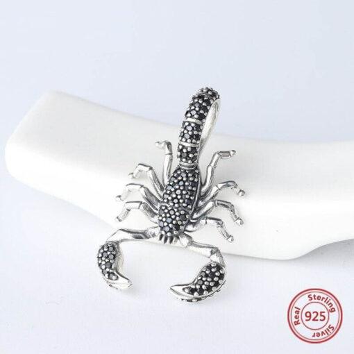 Black Diamond Scorpion Pendant