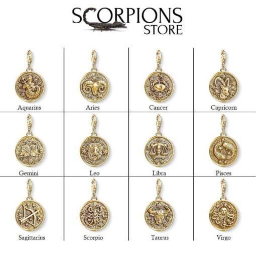 Collection Scorpio Symbol Pendant Gold Color