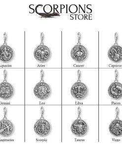 Collection Scorpio Symbol Pendant Silver Color