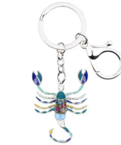 Colorful Scorpion Keychain Blue