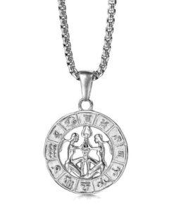 Gemini Silver Necklace