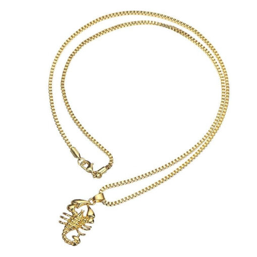 Gold Scorpion Necklace Chain