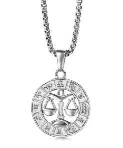 Libra Silver Necklace