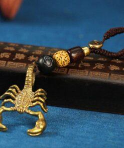 Metal Scorpion Keychain