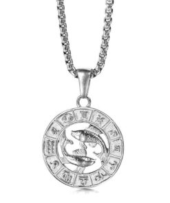 Pisces Silver Necklace