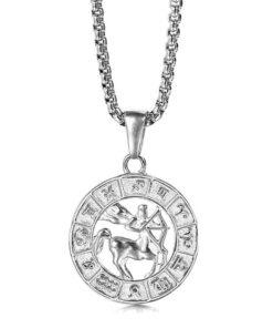 Sagittarius Silver Necklace