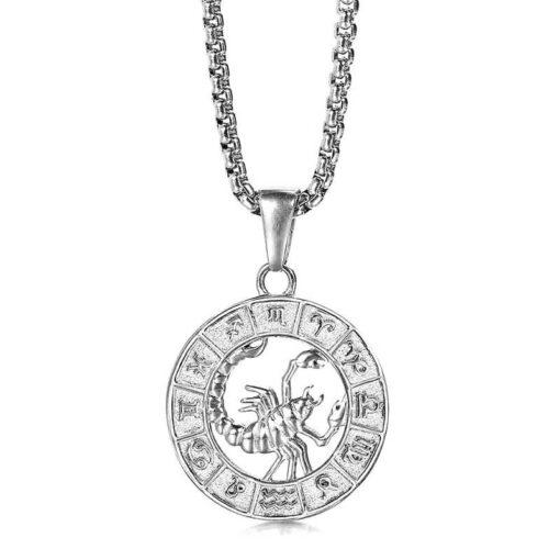 Scorpio Silver Necklace