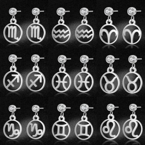 Scorpio Birthstone Earrings 12 signs