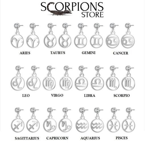 Scorpio Birthstone Earrings collection Sign Zircon