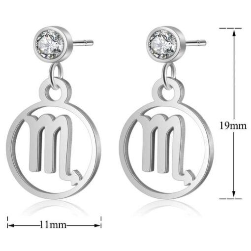 Scorpio Birthstone Earrings size