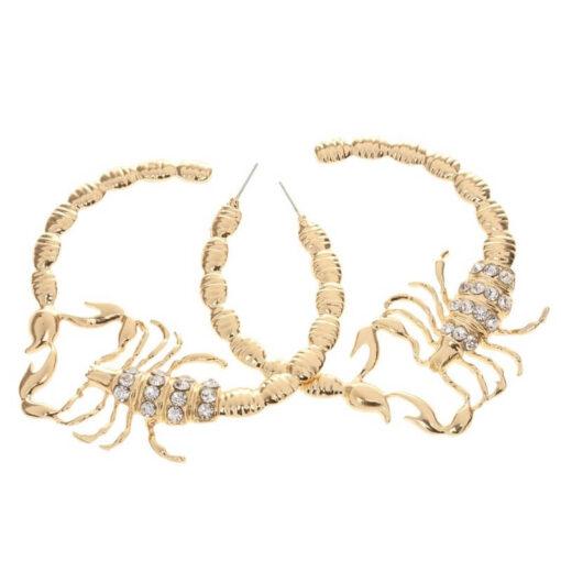 Scorpio Hoop Earrings alloy