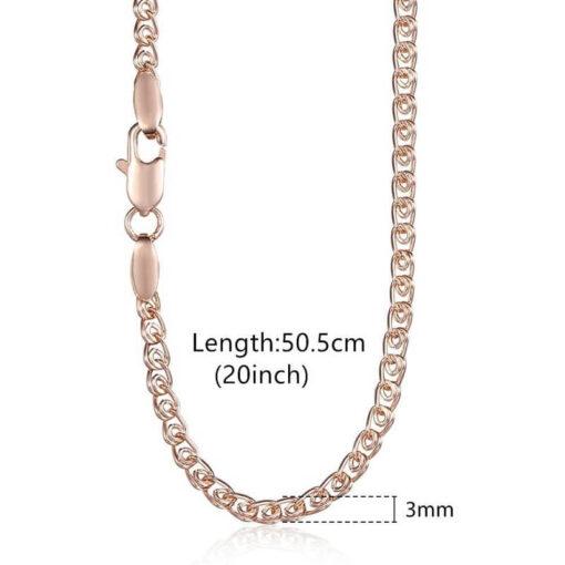 Scorpio Pendant Chain Pink Gold Color