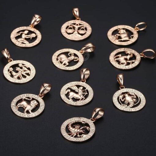 Scorpio Pendant Pink Gold Collection