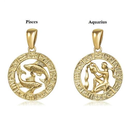 Scorpio Pendant Collection Gold Color sign