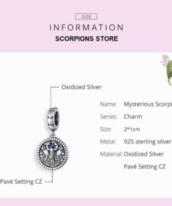 Scorpio Pendant Silver Size