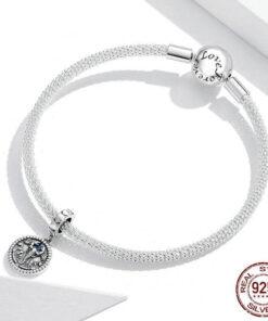 Scorpio Pendant Silver compatible pandora bracelet
