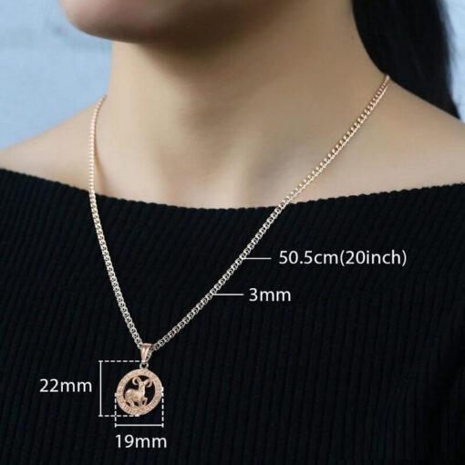 Scorpio Pendant Women Neck Size