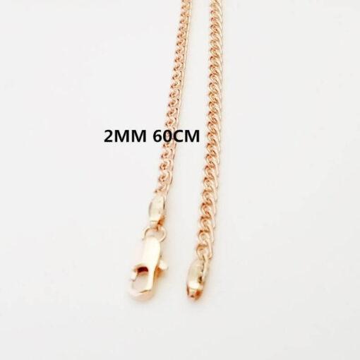 Scorpio Zodiac Pendant Necklace 2mm 60cm