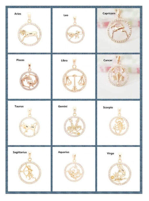 Scorpio Zodiac Pendant Necklace Collection