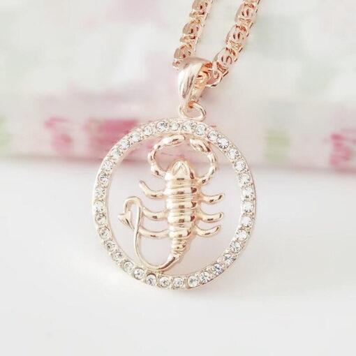 Scorpio Zodiac Pendant Necklace Women