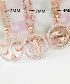 Scorpio Zodiac Pendant Necklace Zircon