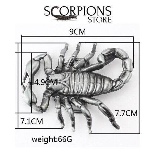 Scorpion Belt Buckle size
