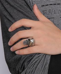 Scorpion Biker Ring Hand