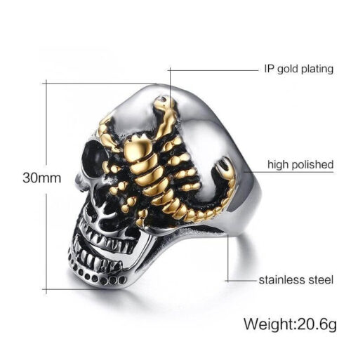 Scorpion Biker Ring Size