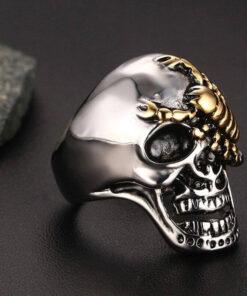 Scorpion Biker Ring Skull