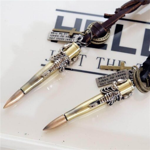 Scorpion Bullet Necklace Black and Brown