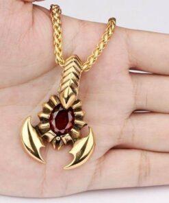 Scorpion Necklace Scorpions Store Zinc Gold color