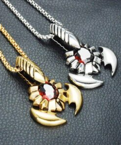Scorpion Necklace Scorpions Store Zinc Silver and gold color