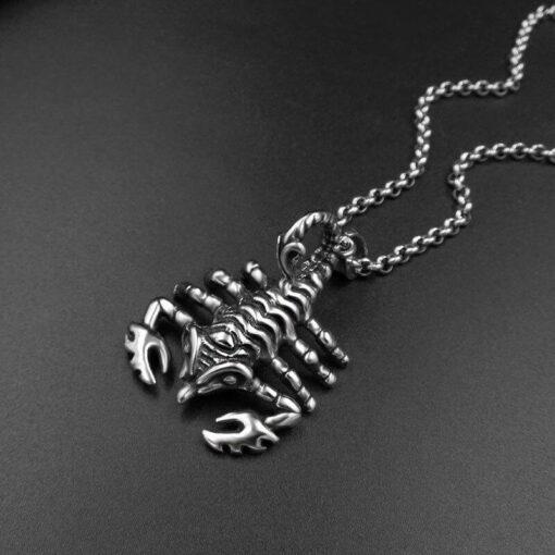 Scorpion Pendant Necklace Men