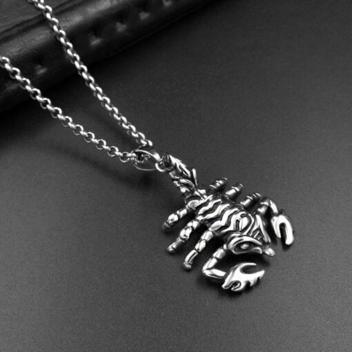Scorpion Pendant Necklace Stainless Steel