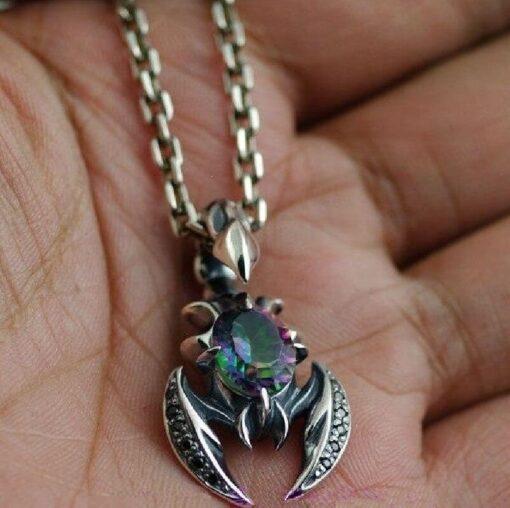 Scorpion Pendant Necklace silver gorgeous
