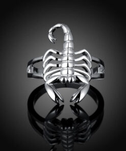 Scorpion Ring Silver-Plated
