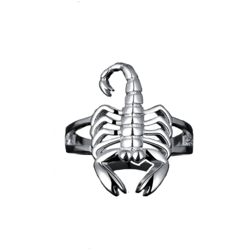 Scorpion Ring Silver-Plated_