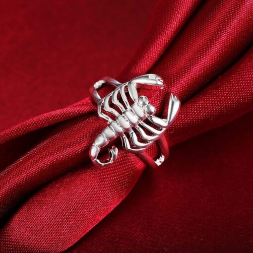 Scorpion Ring Silver Real