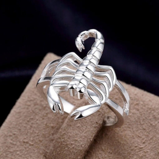 Scorpion Ring Silver Unisex