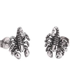 Scorpion Stud Earrings silver