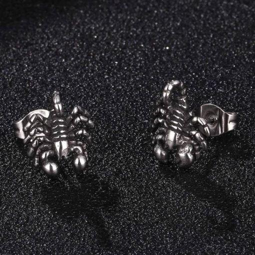 Scorpion Stud Earrings stainless steel