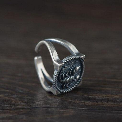 Silver Scorpion Ring Men