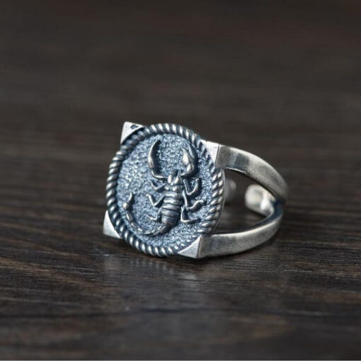 Silver Scorpion Ring for Men