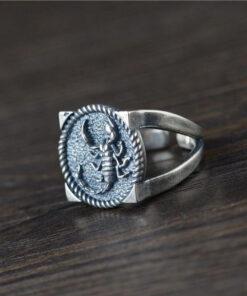 Silver Scorpion Ring rezisable