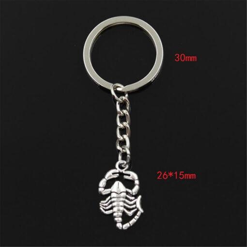 Small Scorpion Keychain size
