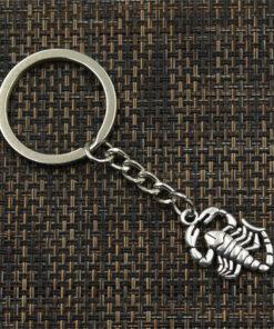 Small Scorpion Keychain zinc